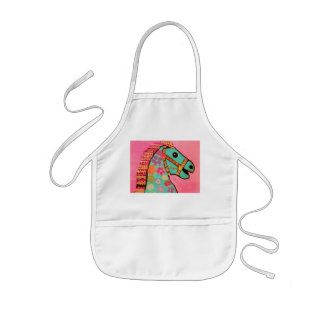 Kids Apron with Bright Carousel Horse