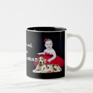 Kids are cool, Danes make them Great. Two-Tone Coffee Mug