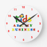 Kids are my business wall clocks