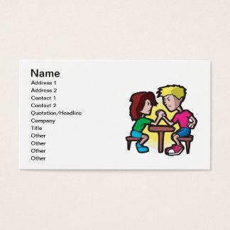 Kids Arm Wrestling Business Card