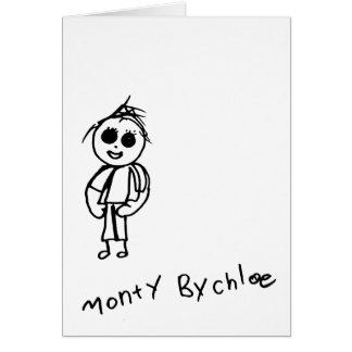 Kids Art Cards - Monty