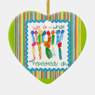 Kids Art Flower Heart Ornament
