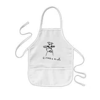 Kids Art Giraffe Apron