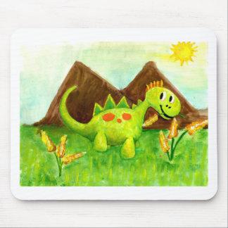 Kids art happy dinosaur dino arnie mouse pad