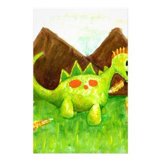 Kids art happy dinosaur dino arnie stationery