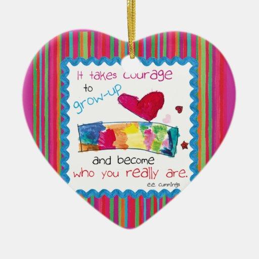 Kids Art Heart Ornament