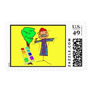 Kids Art Postage Stamps