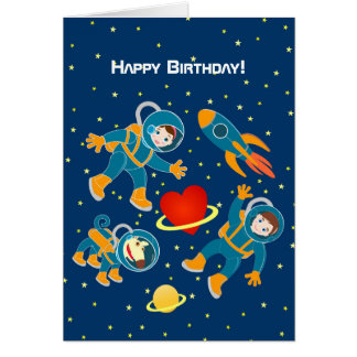 Kids Astronauts love space travel Card