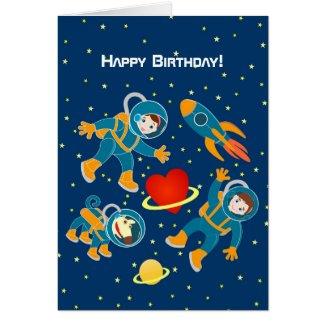 Kids Astronauts love space travel Card
