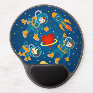 Kids Astronauts love space travel Gel Mouse Pad