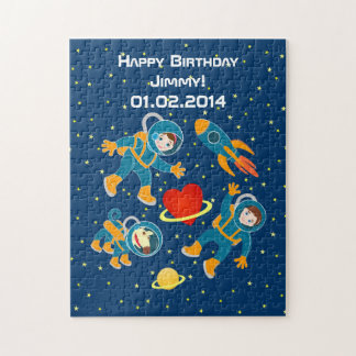 Kids Astronauts love space travel Jigsaw Puzzle