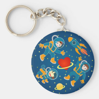 Kids Astronauts love space travel Keychain