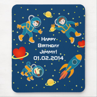 Kids Astronauts love space travel Mouse Pad