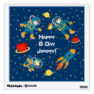 Kids Astronauts love space travel Wall Graphic