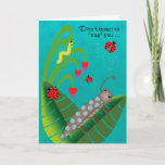 Kids at Summer Camp Funny Bugs Thinking of You Card