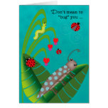Kids at Summer Camp Funny Bugs Thinking of You Greeting Card