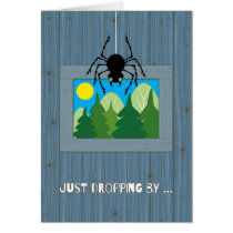 Kids at Summer Camp Spider Dropping By