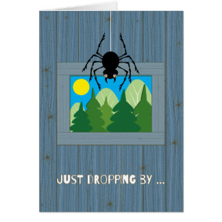 Kids at Summer Camp Spider Dropping By Card
