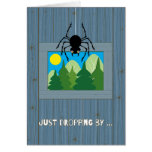 Kids at Summer Camp Spider Dropping By Greeting Card