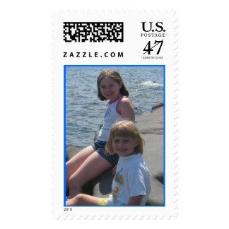kids at the lake postage
