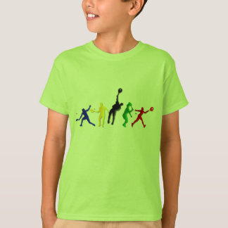 Kids Athletic Tennis players Tees and tennis