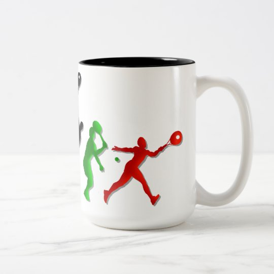 Kids Athletic Tennis players Tees and tennis Two-Tone Coffee Mug