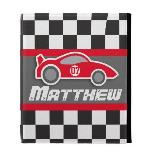 kids auto red sports car named ipad folio case