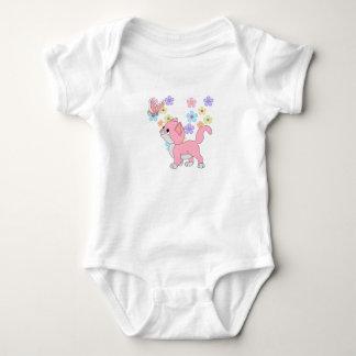 Kids Baby Girls Butterfly Flowers Pink Cat Baby Bodysuit