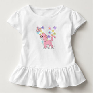 Kids Baby Girls Butterfly Flowers Pink Cat Toddler T-shirt