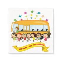 Kids Back To School Paper Napkins