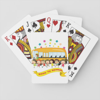 Kids Back To School Playing Cards