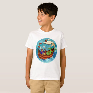 Kids' Bagpipe Boat Band light T-shirt