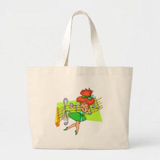 Kids Ballerina And Music Tote Bag