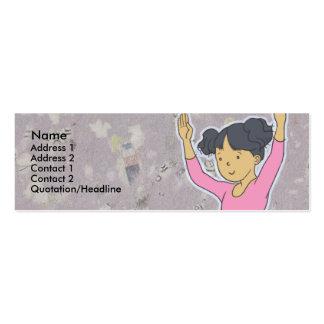 Kids Ballerina Skinny Profile Cards Business Cards
