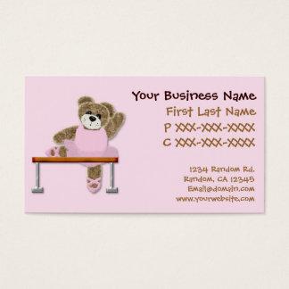 Kids ballet class bear custom business cards