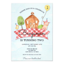 Kids Barnyard Birthday Invite