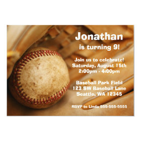 Kids Baseball Birthday Party Invitations 5