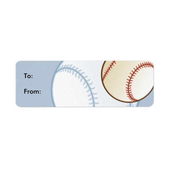 Kids Baseball Gift Tag Labels