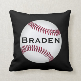 Kids Baseball Player Custom Name or Text Pillow