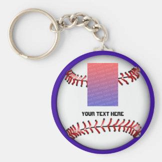 kids baseball team basic round button keychain