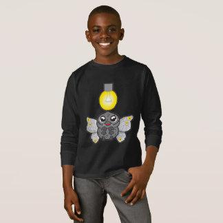 Kids' Basic Long Sleeve T-Shirt, Black with moth T-Shirt