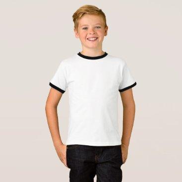 Beach Themed Kids' Basic Ringer T-Shirt