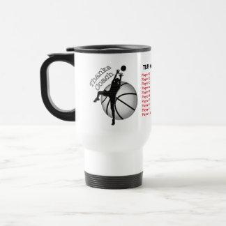 Kids Basketball Coach Gifts, Player's, Coach Names Travel Mug