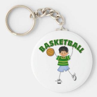 Kids Basketball Gift Basic Round Button Keychain