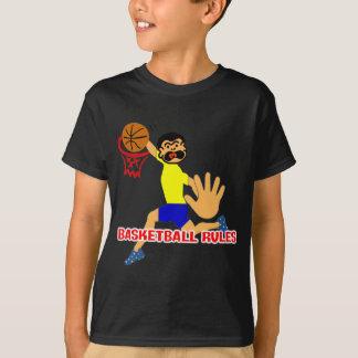 Kids Basketball Rules Cartoon T-Shirt