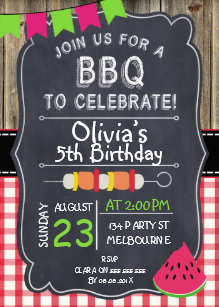 bbq birthday invitations zazzle