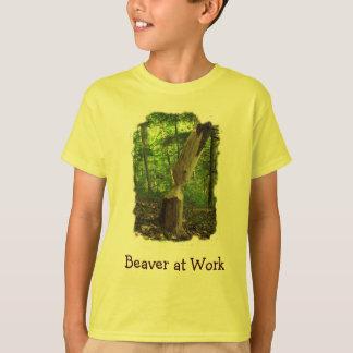 Kid's Beaver at Work T-Shirt