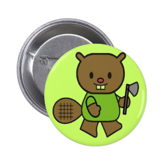 Kids Beaver T Shirts and Gifts Pinback Button