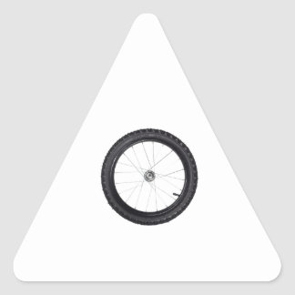 Kids bicycle wheel triangle sticker