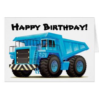 Kid's Big Blue Dump Truck Card
